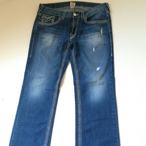 True Religion Jeans Mens Straight Jeans